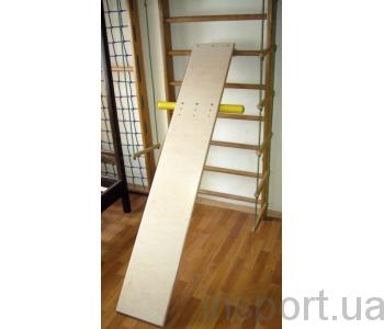 Доска для пресса и спины 190 см. с упорами для ног