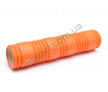 Роллер для занятий йогой и пилатесом Ecofit оранжевый MDF016B 62*14см