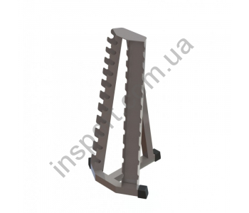 Стойка для гантелей хромированных пристенная ТС-134.1