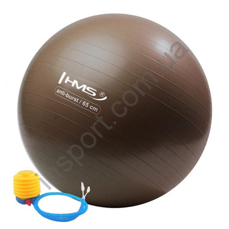 Мяч для фитнеса (фитбол) HMS YB02 65 см Anti-Burst Braun