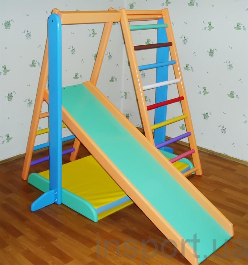 Детский спортивно-игровой комплекс цветной