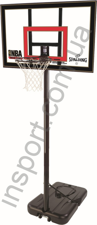 Баскетбольная стойка Spalding 77799CN Highlight Acrilic Portable 42