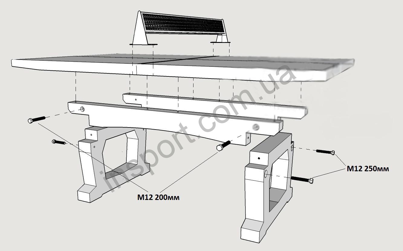 Бетонный стол для настольного тенниса Fitness Master