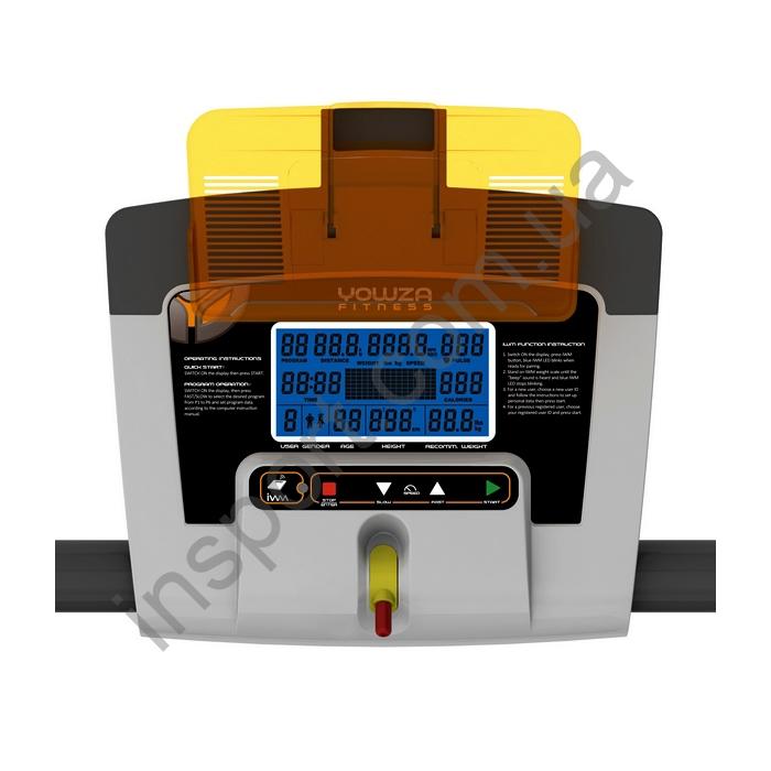 TAPI12 Беговая дорожка Yowza Fitness Binetto+IWM(ваги)+MP(мр3)-LCD29B
