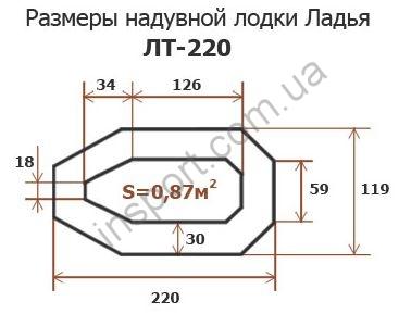 Надувная лодка Ладья ЛТ-220-ДС