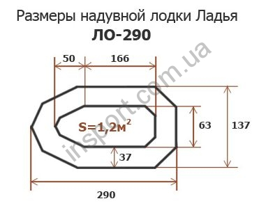 Надувная лодка Ладья ЛО-290-С