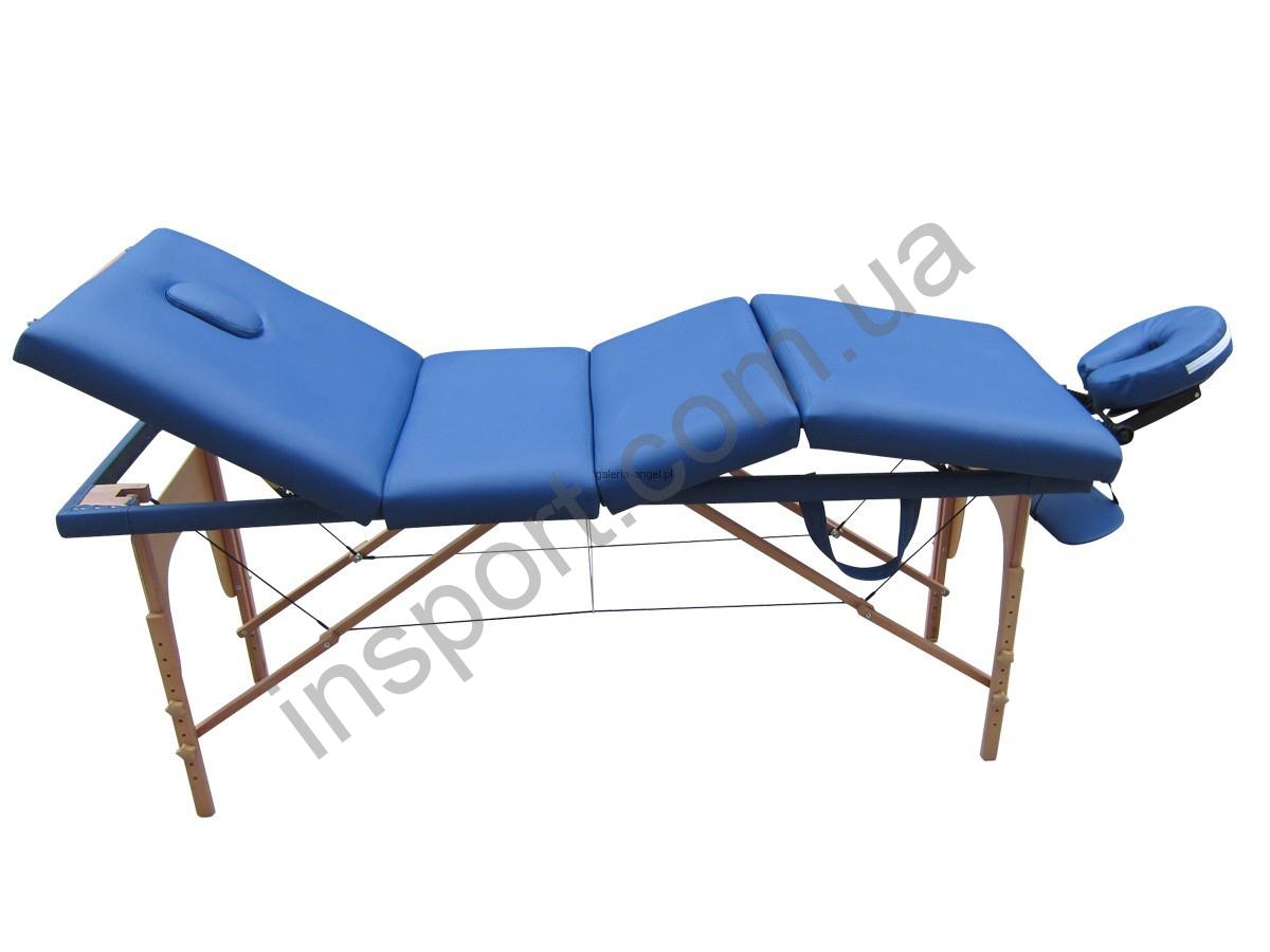 Массажный стол Fitness Master 4-х секционный синий