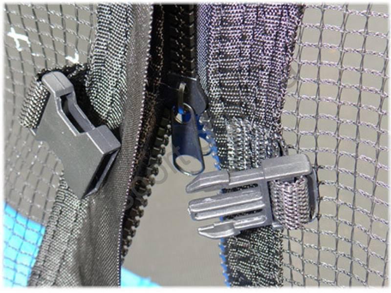 Батут SJ 12ft (374cm) blue с внешней сеткой