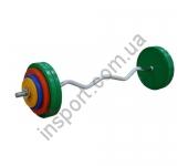 Штанга W-образная InterAtletika 45 кг