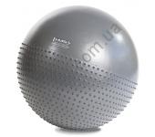 Мяч для фитнеса (фитбол) полумассажный HMS YB03 65 см Anti-Burst Grey