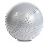 Мяч для фитнеса (фитбол) полумассажный HMS YB03 65 см Anti-Burst Light Grey