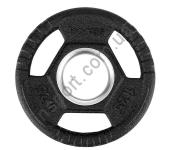 Олимпийский диск прорезиненный черный 1.25 КГ HMS TOH01