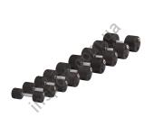 Набор профессиональных гантелей обрезиненных STEIN Rubber Dumbbell set 1-10 KG, 10 pairs DB-3051-1-10