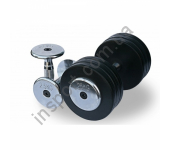 Обрезиненный гантельный ряд от 2.5 до 25 кг (10 пар) Alex FDS-03 2,5/25kg