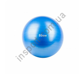 Мяч гимнастический, фитбол 55 см синий Fitnessport GB-55