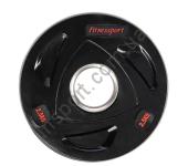Диск олимпийский обрезиненный черный 2,5 кг Fitnessport RCP17-2.5