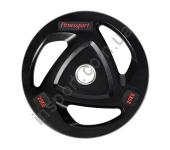 Диск олимпийский обрезиненный черный 20 кг Fitnessport RCP17-20