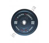 Бамперный диск для кроссфита Fitness Service 10 кг
