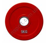 Диск олимпийский обрезиненный цветной 5 кг Alex RCP19-5
