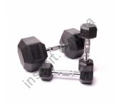 Гантельный ряд для кроссфита (8 пар) 340 кг Fitnessport D-05 12,5/30kg
