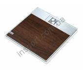 Весы cтеклянные Beurer GS21 Madeira MaterialLine
