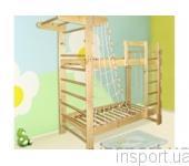 Двухъярусная кровать-спортивный уголок