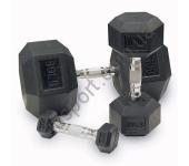 Гантельный ряд шестигранный от 1 до 10 кг Alex D-03