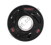 Черный диск олимпийский обрезиненный RCP17 25 кг