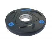 Черный диск олимпийский обрезиненный RCP17 2,5