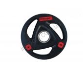 Черный диск олимпийский обрезиненный RCP17 5