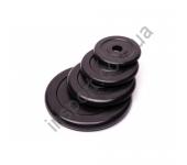 Черный диск обрезиненный RCP10-20 кг (26 мм)