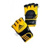 Перчатки трен. ММА/COMBAT кожа желто/черн (размер М)