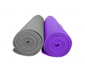 Мат тренировочный, 5 мм серый/фиолетовый