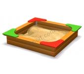 Песочница с угловыми сиденьями DIO204