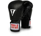 Боксерские перчатки Title Classic Hook-and-Loop Leather Training Gloves 2074