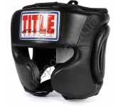 Боксерский защитный шлем TITLE Classic Traditional Training Headgear CPHGT BK 5207