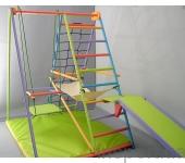 Игровой складной спортивный комплекс «Кроша» цветной цена указана за уголок с качелями и кольцами()