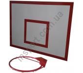 Баскетбольный щит металлический - 0,8 м х 1,0 м (БМ-100)