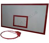 Баскетбольный щит металлический - 1,0 м х 1,8 м (БМ-180)