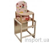 Детский стульчик-трансформер для кормления (бук)