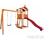 Детская горка с песочницей и качелями Babyland-2
