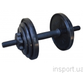 Гантель разборная черная Inter Atletika 8,82 кг СТ 530.10