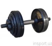 Гантель разборная черная Inter Atletika 13,82 кг СТ 530.15