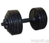 Гантель разборная черная Inter Atletika 18,82 кг СТ 530.20