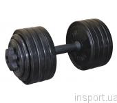 Гантель разборная черная Inter Atletika 23,82 кг СТ 530.25