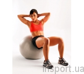 Мяч для фитнеса (фитбол) Perfect Core-Ball 65 см (серый)