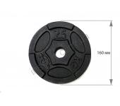 Диск чугунный USA Style 2,5 кг SS-EK-D50-2048-2,5