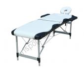 Массажный стол Fitness Master 2-секционный бело-черный