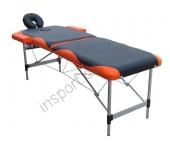 Массажный стол Fitness Master 2-секционный черно-оранжевый