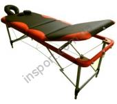 Массажный стол Fitness Master 3-х секционный черно-оранжевый